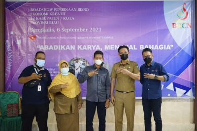 Badan Riau Creative Network Roadshow di Kabupaten Bengkalis, Pelaku Ekraf Sambut Antusias