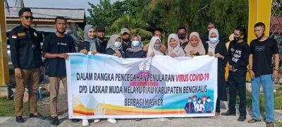 Laksanakan Himbauan Pemerintah, DPD-LM2R Bagikan Masker Kepada Masyarakat